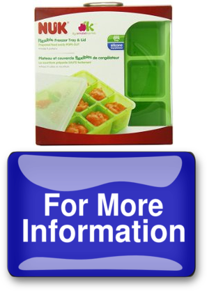 In NUK Homemade Baby Food Flexible Freezer Tray and | diploeskeelage